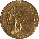 1916-S Indian Gold $5 NGC MS61 Nice Luster Nice Strike