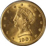 1901-S Liberty Gold $10 PCGS MS65 Fantastic Luster Blazing Gem