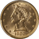 1902-P Liberty Gold $5 PCGS MS64 Fantastic Luster Nice Strike