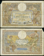FR. 866 100 1938 World Paper Money France Torn Ink Writing Fine