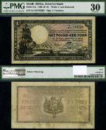 FR. 84 E 1 Pound 1938-44 World Paper Money South Africa PMG VF30