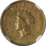 1854-P Type 2 Liberty Gold $1 NGC AU55
