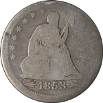 1853-P Seated Liberty Quarter