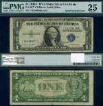 FR. 1617* $1 1935-G Silver Certificate With Motto Inverted Star PMG VF25