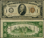 FR. 2303 $10 1934-A Hawaii Note Misalign Fine