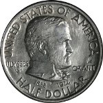 1922 Grant Star Commem Half Dollar Nice BU Details Bright White Nice Strike