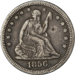 1856-O Seated Liberty Quarter Nice XF Details Nice Strike