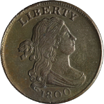 1800 Half Cent AU/BU Details C-1 R.2 Great Eye Appeal Nice Luster Great Value