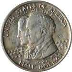 1921 Alabama Commem 2x2 Half Dollar Nice AU Nice Eye Appeal Nice Strike