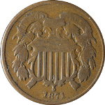 1871 Two (2) Cent Piece