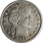 1893-S Barber Half Dollar Choice VF/XF Key Date Great Eye Appeal Nice Strike