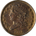 1832 Half Cent Choice AU/BU C-3 R.1 Great Eye Appeal Nice Strike