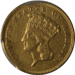 1855-S Indian Princess Gold $3 PCGS VF Details Great Eye Appeal Nice Strike