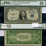 FR. 1610 $1 1935-A Silver Certificate Experimental S Surcharge PMG VF25