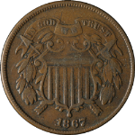 1867 Two (2) Cent Piece