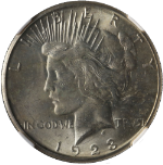 1923-S Peace Dollar NGC MS62 Nice Eye Appeal Fantastic Luster