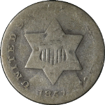 1851 Three (3) Cent Silver