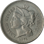 1871 Three (3) Cent Nickel