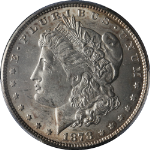 1878-P 7/8TF Morgan Silver Dollar Strong PCGS MS62 Nice Eye Appeal