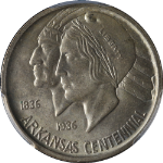 1938-S Arkansas Commem Half Dollar PCGS MS64 Great Eye Appeal Nice Luster