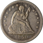 1850-O Seated Liberty Quarter VF/XF Details Nice Eye Appeal Nice Strike