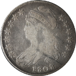 1808/7 Bust Half Dollar Choice VG/F 0-101 R.1 Great Eye Appeal Nice Strike