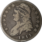 1811/10 Bust Half Dollar Punctuated Date Choice F 0-101 R.1 Great Eye Appeal
