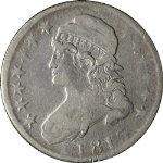 1813 Bust Half Dollar F Details 0-102 R.4 Decent Eye Appeal