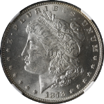 1878-P 7TF Rev 78 Morgan Silver Dollar NGC MS63 Bright White Nice Eye Appeal