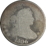 1806 Bust Quarter AG Strong Date Honest Wear