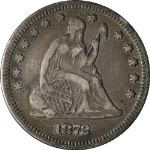 1872-P Seated Liberty Quarter Nice VF Nice Eye Appeal Nice Strike Tough To Find
