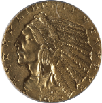 1912-P Indian Gold $5 PCGS MS62