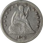 1872-P Seated Liberty Quarter Nice XF Nice Eye Appeal Nice Strike