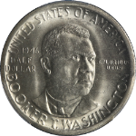 1946-S BTW Booker T Washington Half Dollar PCGS MS66 Blast White Gem Nice Strike