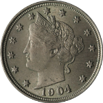 1904 Liberty V Nickel