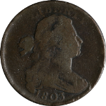 1803 Large Cent Small Date Small Fraction S.252 R.2-