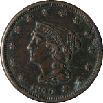 1840 Large Cent Small Date N-2 R.1