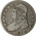 1814 Bust Half Dollar Choice F/VF 0-107 R.2 Superb Eye Appeal Nice Strike