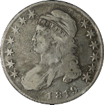 1819 Bust Half Dollar F Details 0-111 R.2 Decent Eye Appeal Nice Strike