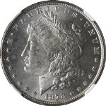 1878-P 8TF Morgan Silver Dollar NGC MS63 Blast White Great Eye Appeal STOCK