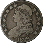 1828 Bust Half Dollar Square Base 2 Large 8s Nice VG+ 0-109 R.3 Great Eye Appeal
