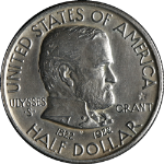 1922 Grant Star Commem Half Dollar AU/BU Details Bright White Nice Eye Appeal