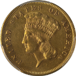 1859 Indian Princess Gold $3 PCGS AU55 Great Eye Appeal Nice Luster Nice Strike