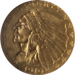 1910 Indian Gold $2.50 NGC MS63 Nice Eye Appeal Nice Luster Nice Strike