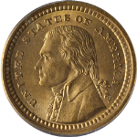 1903 LA Purchase, Jefferson $1 Gold PCGS MS65 Superb Eye Appeal Nice Strike