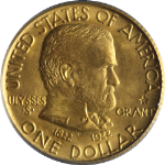 1922 Grant With Star Gold $1 PCGS MS66 Superb Eye Appeal Nice Strike Blazing Gem