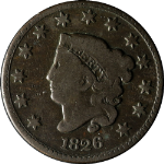 1826 Large Cent - N.5, R.2+