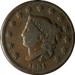 1831 Large Cent - N.1. R.1