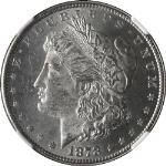 1878-P 8TF Morgan Silver Dollar NGC MS62 Blast White Great Eye Appeal