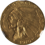 1910 Indian Gold $2.50 NGC MS63 Great Eye Appeal Nice Luster Nice Strike